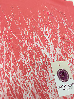 "Coral White freehand line double bordered high street printed fabric 58"" M401-1 - Midland Textiles & Fabric"