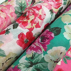 Bold Floral 100% Cotton Lawn Dress fabric 58inch wide- Per metre -M271 Mtex