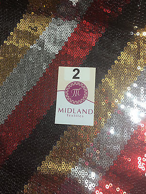 "45 Degrees Diagonal Stripe Sew on Sequins Net Dress Fabric 58"" Wide M81 Mtex - Midland Textiles & Fabric"