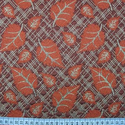 "Indian Gold Metallic leaf brocade waistcoat, jacket fabric 58"" M709 Mtex - Midland Textiles & Fabric"