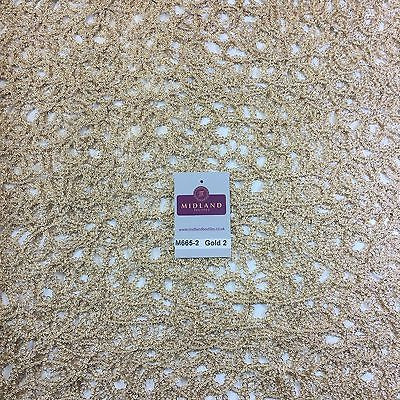 "Metallic Wedding Net Mesh lace Dress fabric 50""  Wide M665 Mtex - Midland Textiles & Fabric"