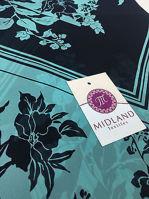 "Vintage floral printed Light chiffon high street dress fabric 58"" M401 Mtex - Midland Textiles & Fabric"
