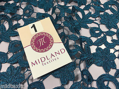 "Floral Wedding Guipure chemical lace dress fabric 53"" Wide M191 Mtex - Midland Textiles & Fabric"
