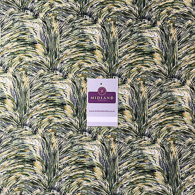 "Artistic Waves Peach Crepe High Street Printed Dress Fabric 58""  M401 Mtex - Midland Textiles & Fabric"