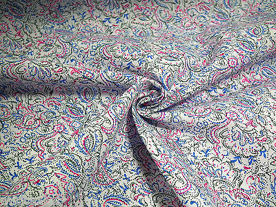 "Floral heart paisley polycotton print dress fabric 44"" Wide M333 Mtex - Midland Textiles & Fabric"