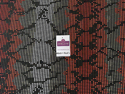 "Spotted printed ity stretch jersey Lycra dress Fabric 58"" wide M640 Mtex - Midland Textiles & Fabric"