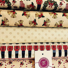"Nutcracker 100% Cotton Christmas Themed Patchwork fabric 44"" Wide M560 Mtex - Midland Textiles & Fabric"