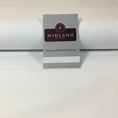 "White 100% Combed Cotton plain Poplin fabric ideal for clothing/craft 58"" M705 - Midland Textiles & Fabric"