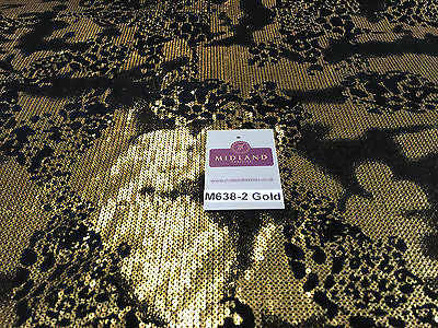 "Metallic Flocked Jersey one way stretch sequin dress fabric 55"" wide M638 Mtex - Midland Textiles & Fabric"