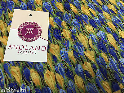 "Meadow Of Tulip Flowers 100% Cotton Lawn Dress fabric 58"" wide- Per metre M272 - Midland Textiles & Fabric"