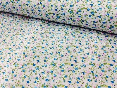 "Vintage  floral ditsy Shabby Chic poly cotton printed fabric 44"" Wide M341 Mtex - Midland Textiles & Fabric"