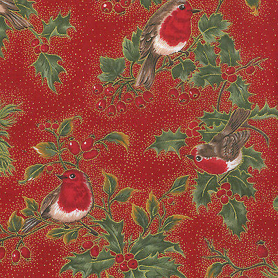 "Red Merry Christmas themed 100% Cotton Patchwork & Crafting Fabric 45"" Mtex - Midland Textiles & Fabric"
