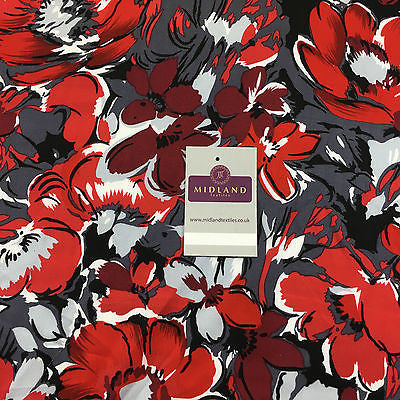 "Artistic Floral Abstract printed viscose twill dress fabric 58"" wide M697 Mtex - Midland Textiles & Fabric"