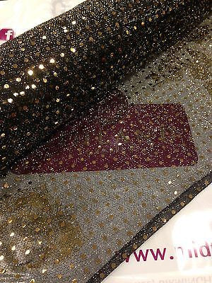 Sequin 3mm fabric sparkly shiny american knit 100cm Clothing M66 Mtex - Midland Textiles & Fabric