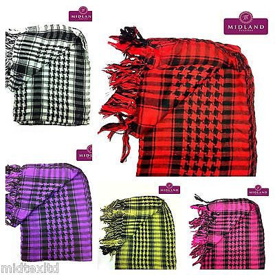 Cotton Checkered Arab Keffiyeh Shemagh Arafat Scarf Stole Neck Wrap M14 Mtex