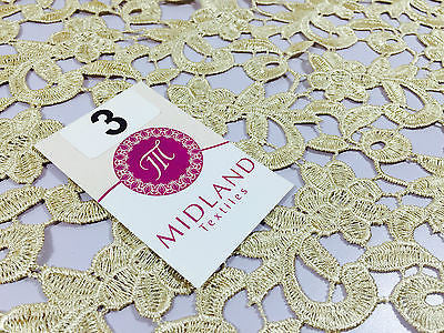 """Floral Wedding Guipure chemical lace dress fabric 53/"""" Wide M191 Mtex"""
