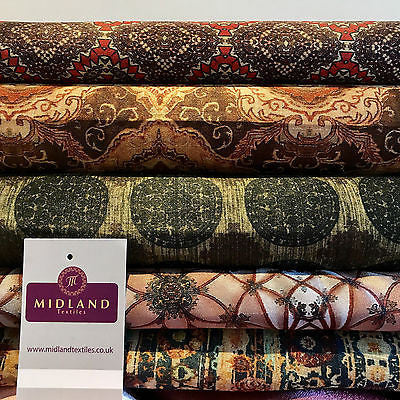 "Woven Tussar 100% Silk Printed dress and cushion Fabric 44"" M680 Mtex - Midland Textiles & Fabric"