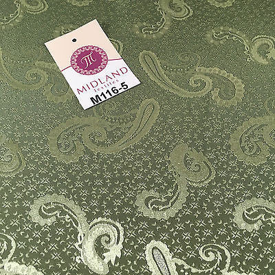 "Two Toned Paisley Satin Jacquard Dress Fabric 58"" Wide M116 Mtex - Midland Textiles & Fabric"