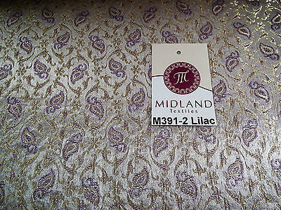 "Indian Embroided Floral Metallic Banarsi Brocade Fabric 44"" M391 Mtex - Midland Textiles & Fabric"
