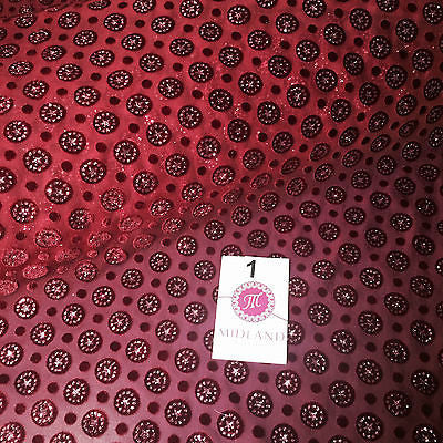 "Burnout Chiffon velvet circles and spangle glitter fabric 50"" Wide M187 Mtex - Midland Textiles & Fabric"