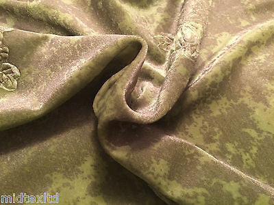 "Floral embossed Velvet with gold print  58"" M16-8 & 9 Mtex - Midland Textiles & Fabric"