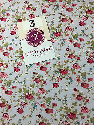 "Vinatge Floral poly cotton print dress craft fabric 44"" Wide M353 Mtex - Midland Textiles & Fabric"