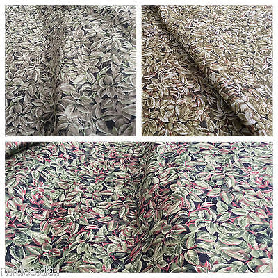 "44"" Leaf Print 100% Cotton Fabric Craft Dressmaking Patchwork Midtex M301 F953"