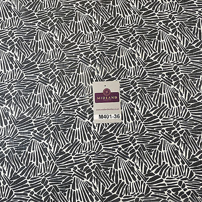 "Navy and White Chiffon Youryu High Street Printed Dress Fabric 58"" M401-36 Mtex - Midland Textiles & Fabric"