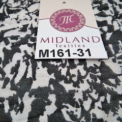 "Black and White Abstract printed chiffon fabric 44"" wide M161-31 Mtex - Midland Textiles & Fabric"