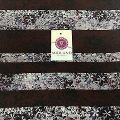 "Burgundy and Lilac striped floral Dull Moss Crepe High Street Fabric 58"" M401-11 - Midland Textiles & Fabric"