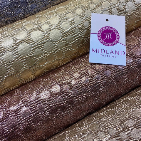 "Metallic Corduroy Foil Lame Fabric 1 way stretch 58"" wide M602 Mtex - Midland Textiles & Fabric"