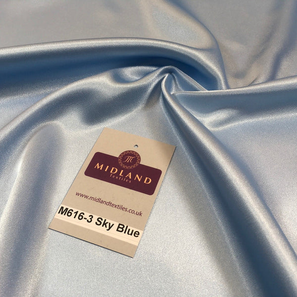 "Silky Smooth Japanese Premium Lightweight Satin  Dress Fabric 44"" M616 Mtex - Midland Textiles & Fabric"