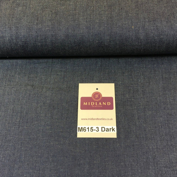 4oz Washed Denim Light-medium-dark blue 100% Cotton Fabric 146cm wide  M615 Mtex - Midland Textiles & Fabric