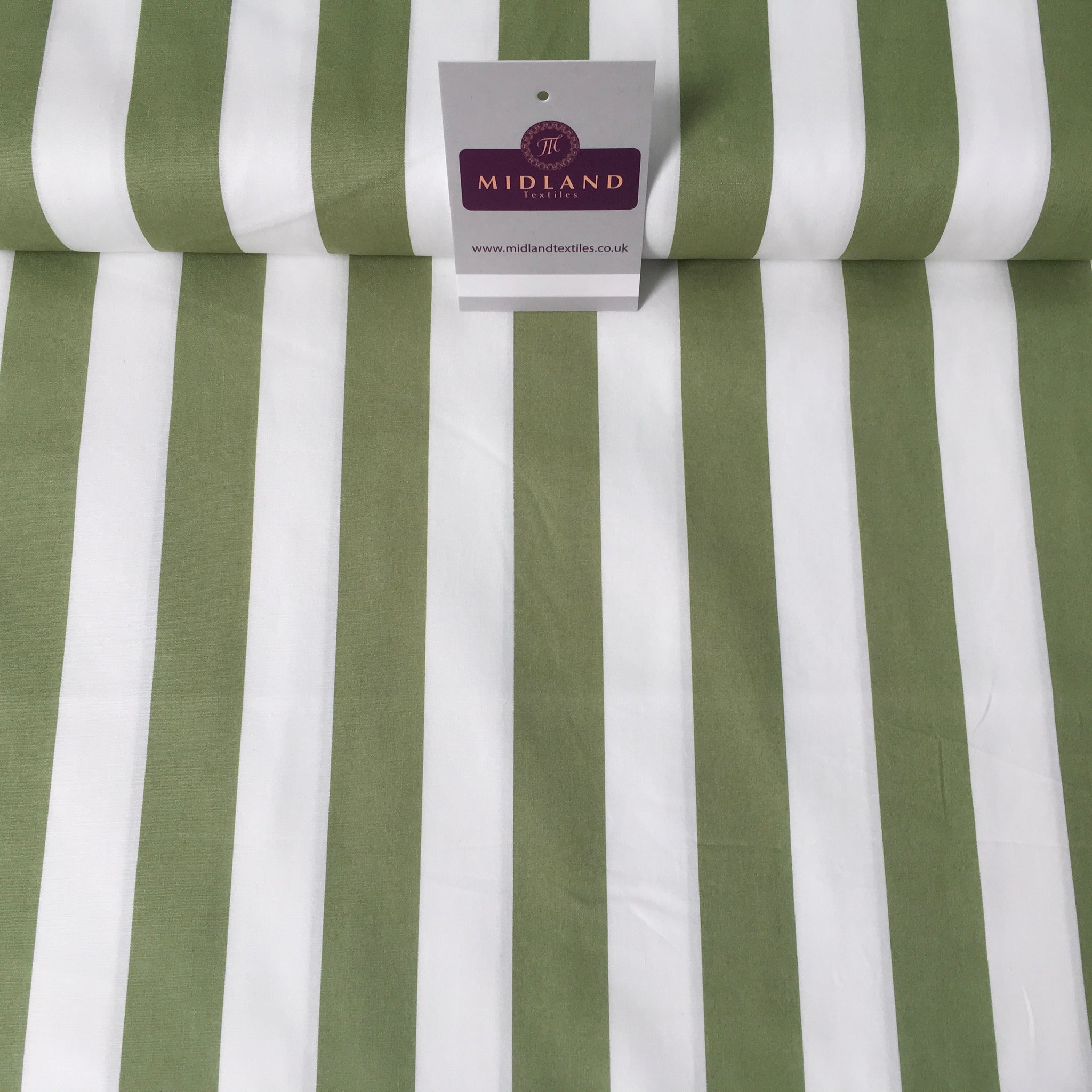 "2.5cm Candy Stripped Cotton Poplin shirting, dress Fabric 44"" wide MK898 Mtex"