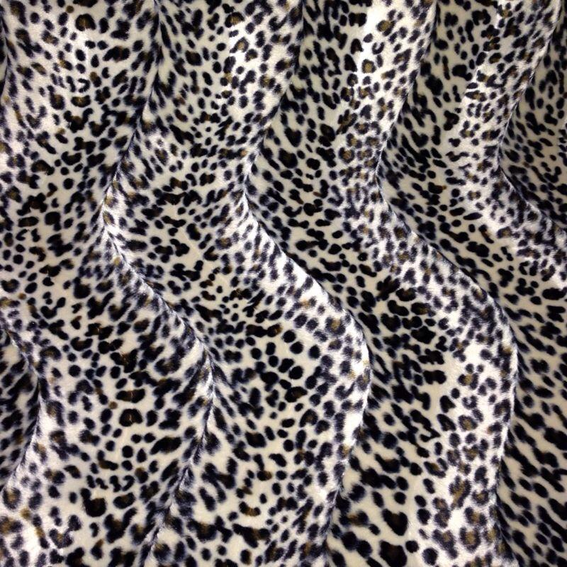 "ANIMAL PRINT VELBOA FAUX FUR VELOUR FABRIC CRAFT MATERIAL 60"" WIDE M220"
