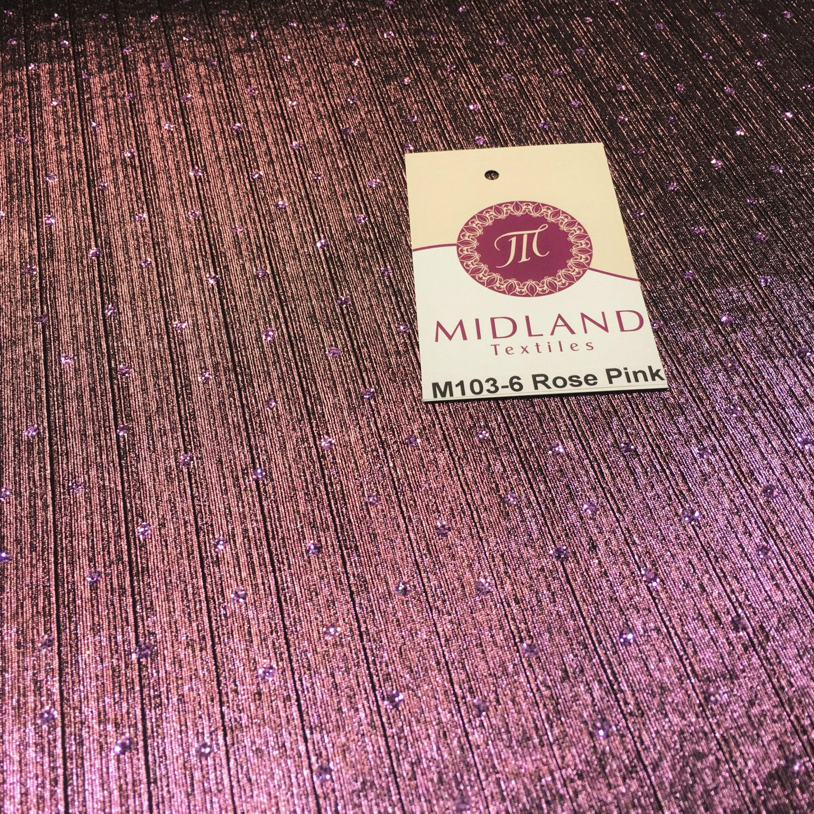 "Metallic Corduroy Lame Hologram Sequin 1 way stretch Fabric 58"" wide M103 Mtex"
