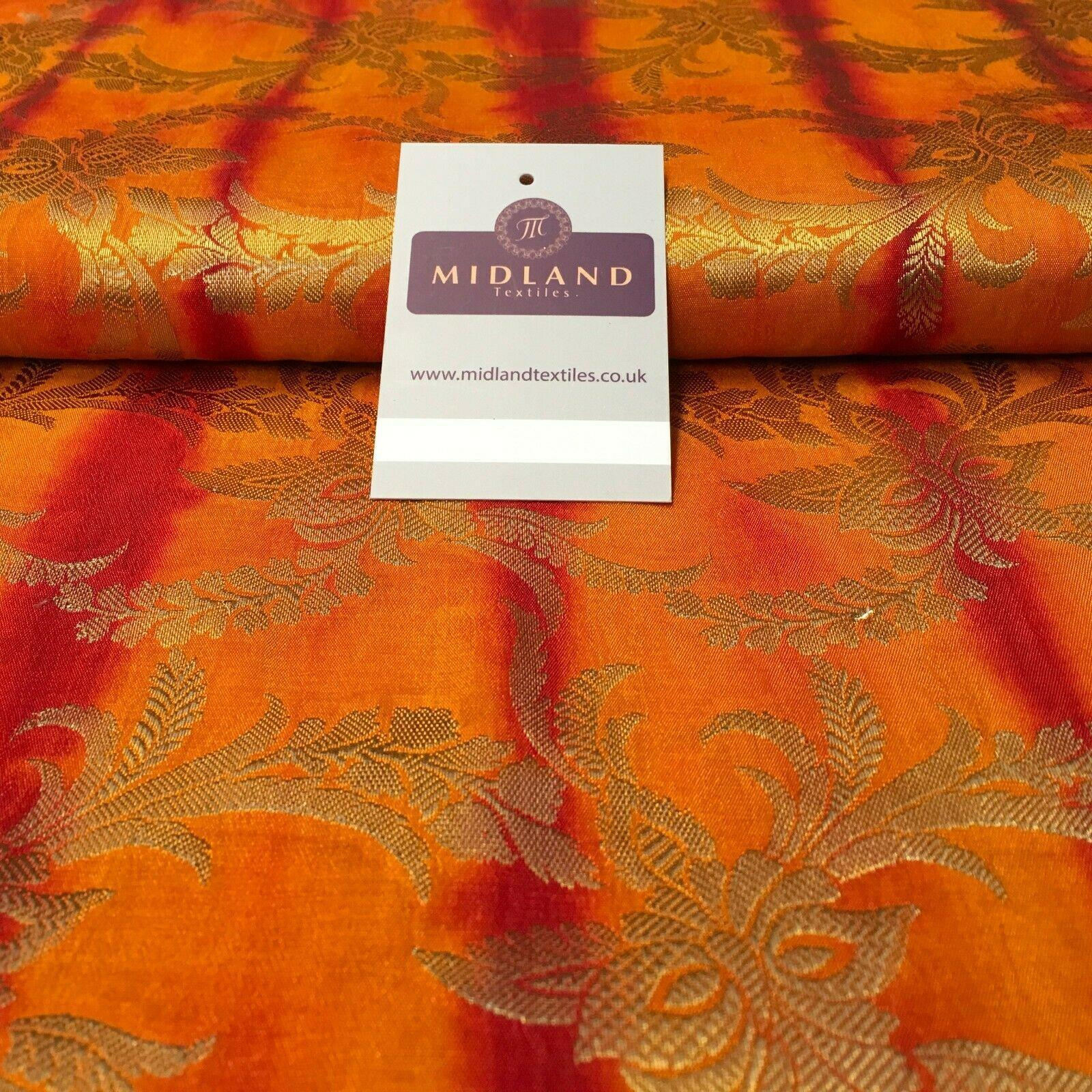 Indian Two Toned Banarsi Pure Silk Brocade fabric 100cm Wide MP1105 Mtex