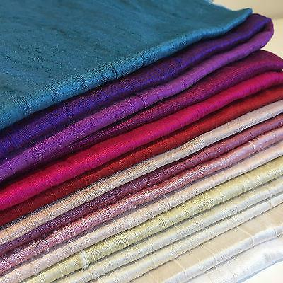 "Pure 100% Silk Handloom Dupion Fabric 44"" Wide Sold By Half Metre M685 1-60"