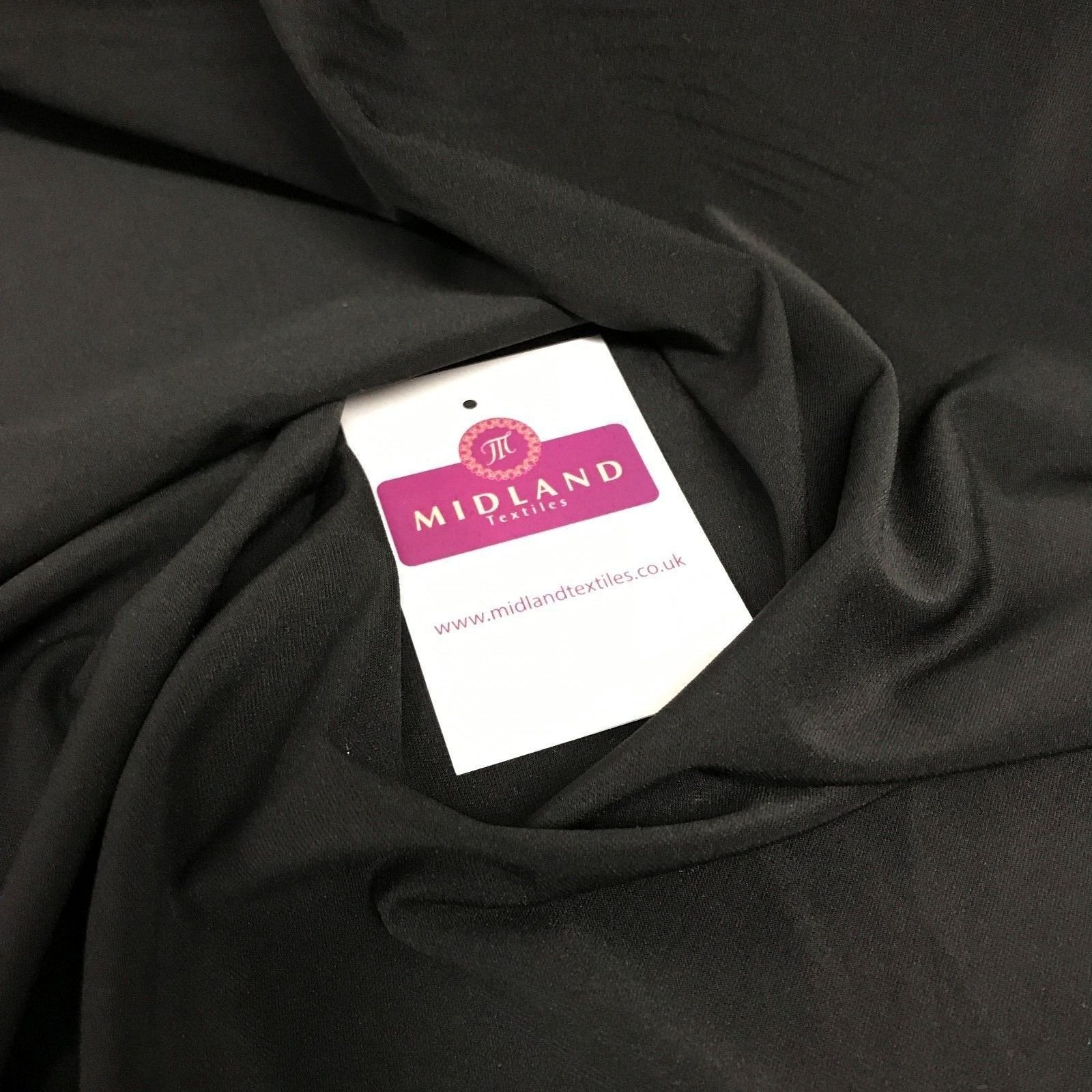 "Plain elastane stretch ity jersey dress fabric 58"" Wide M719 Mtex"