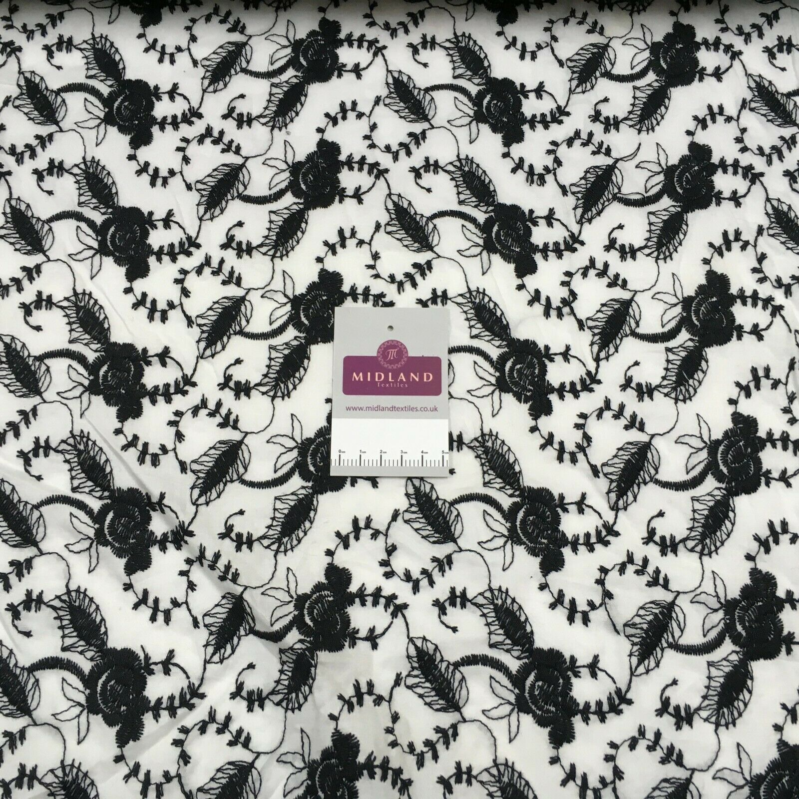 Black white cotton 3d embroidery dress Fabric M1400-28 Mtex
