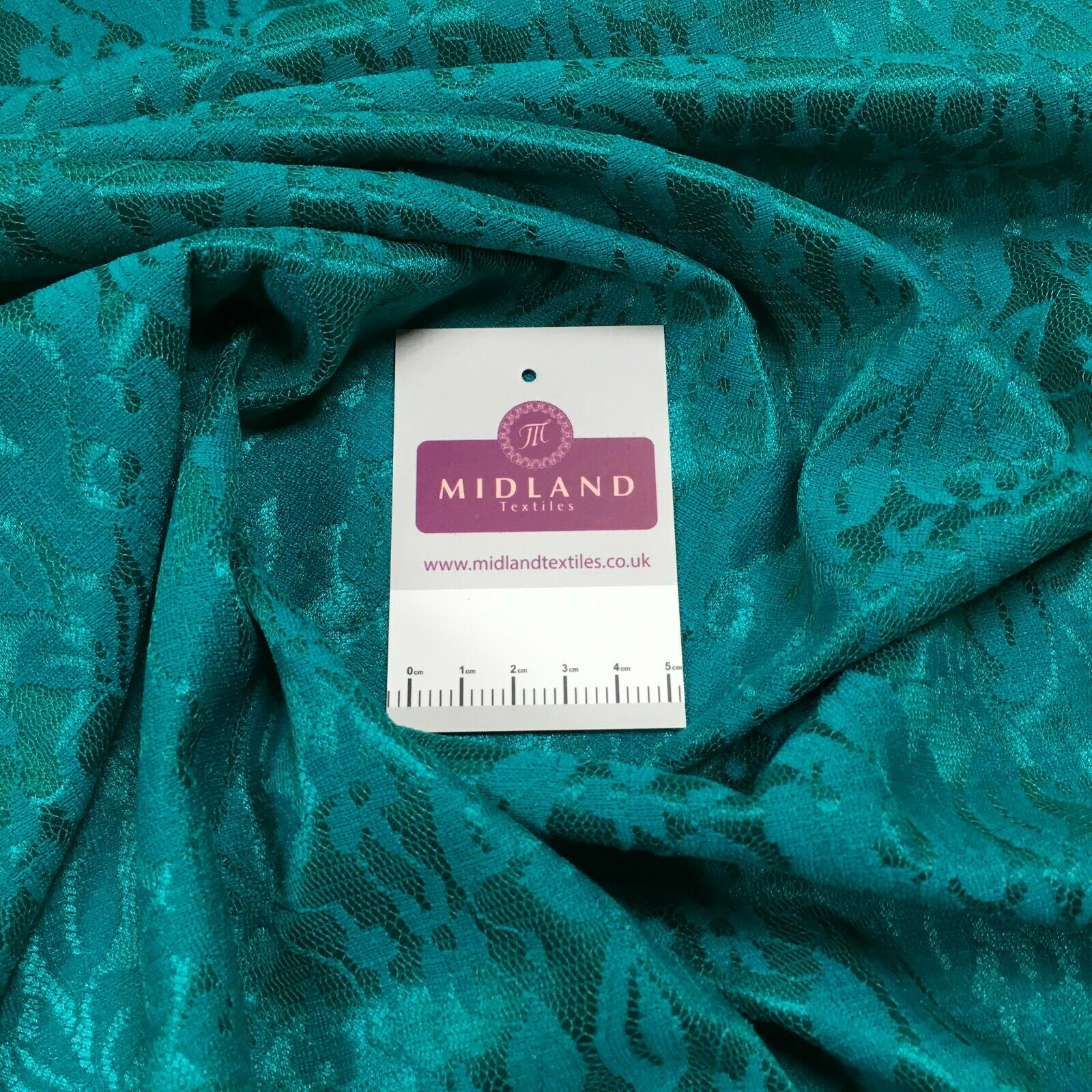 Jade one way stretch satin bonded lace Fabric M1400-26 Mtex