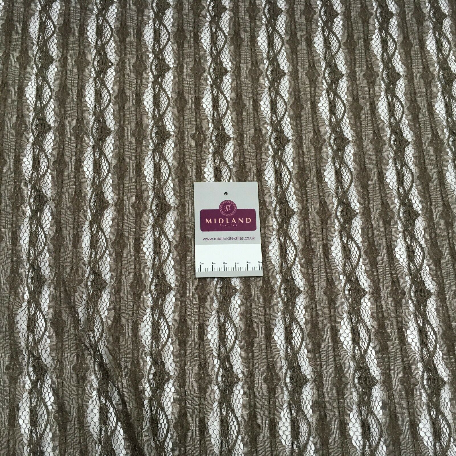 Medium brown geometric lace dress Fabric M186-62 Mtex