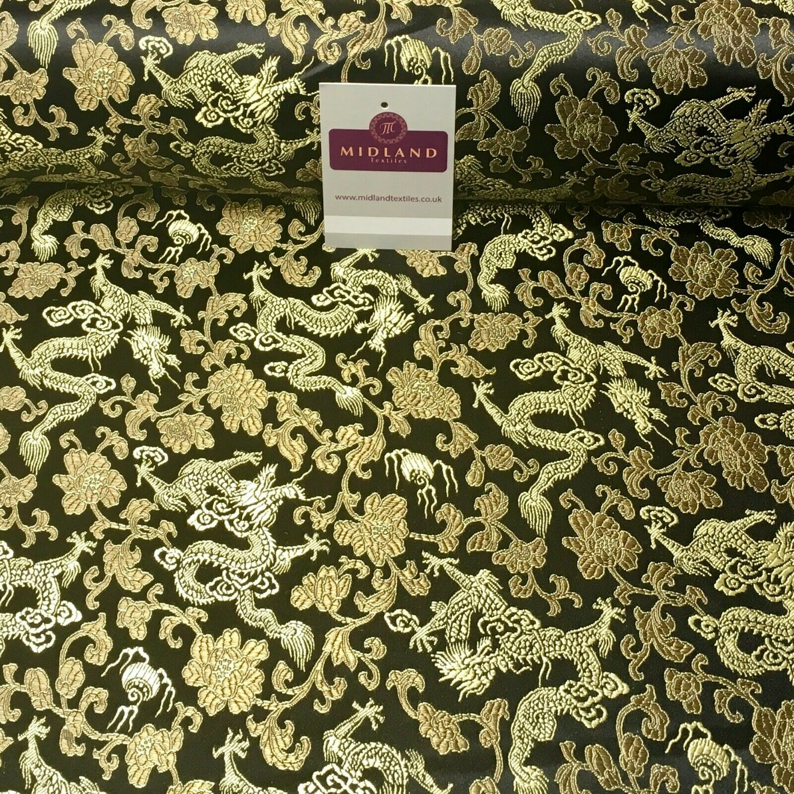 Chinese oriental Dragon Shanghai Brocade dress fabric 120 Cm wide MK1045 Mtex