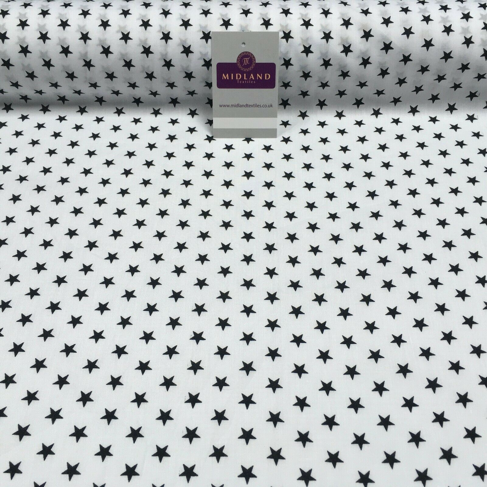 Christmas Star Xmas Printed Polycotton Fabric Craft Gifts 110 cm MD1283 Mtex