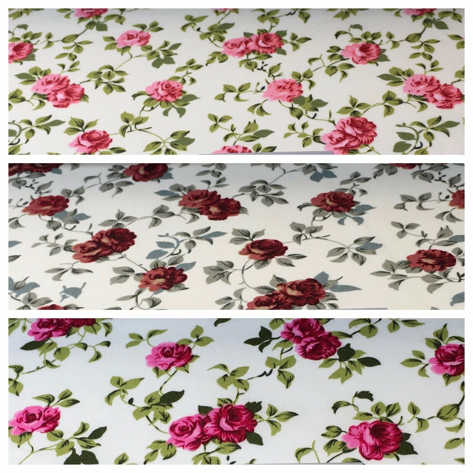 "Floral Vintage Shabby Chic 100% Cotton printed fabric 44"" M743 Mtex"