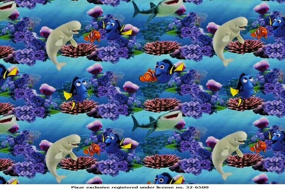 Finding Dory Licensed Digital Cotton Jersey Printed Fabric 150cm Wide MX1059