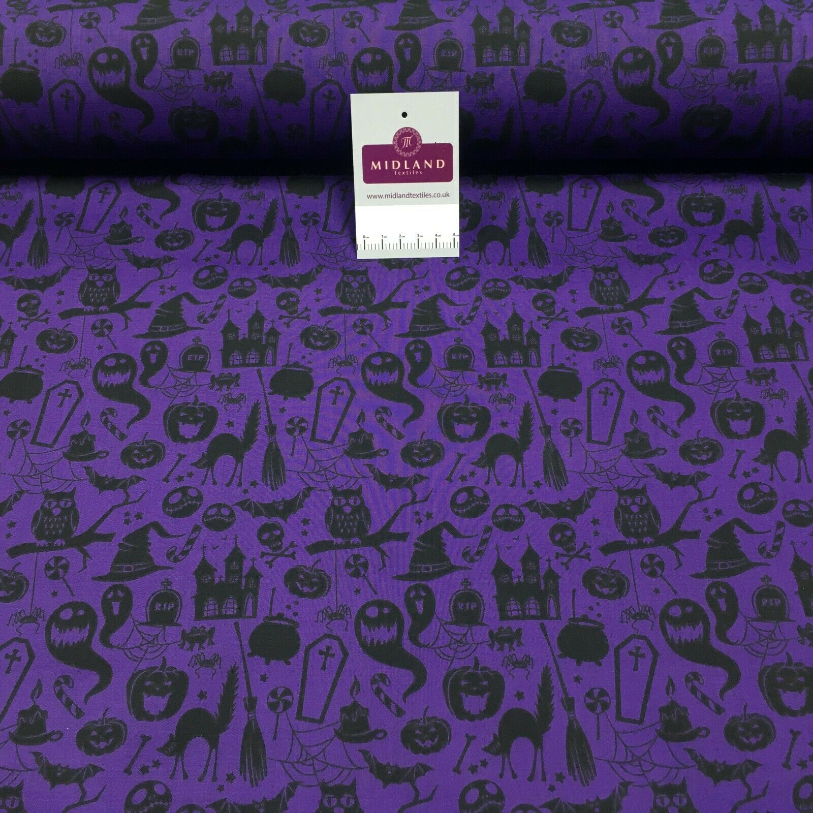 Halloween theme craft poly-cotton mask Fabric M1451 Mtex
