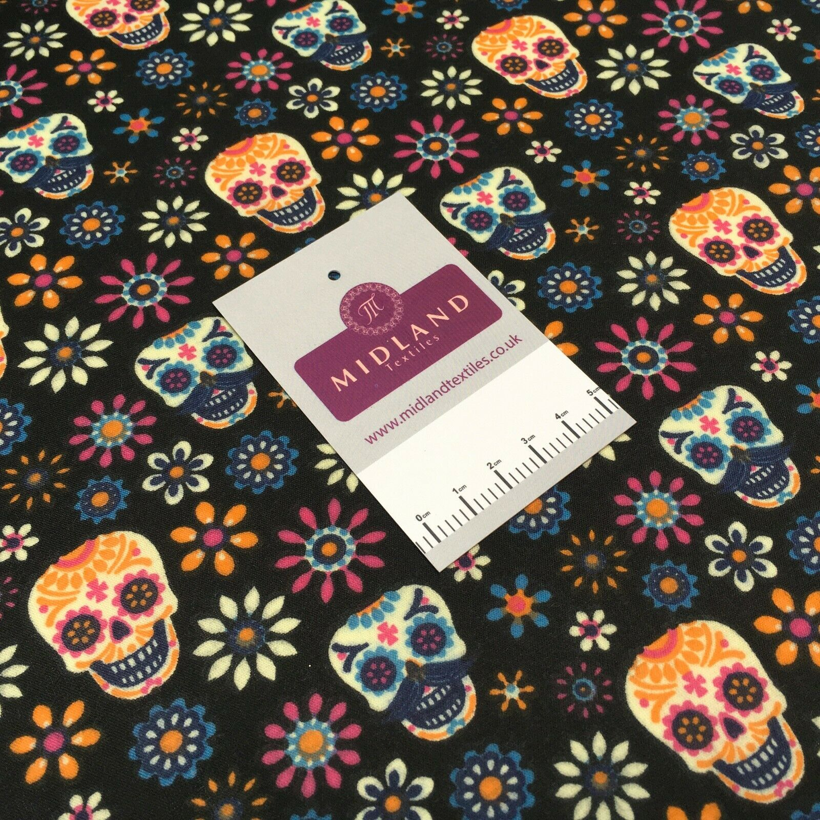 Mexican Halloween day of the dead craft mask poly cotton Fabric M1448 Mtex