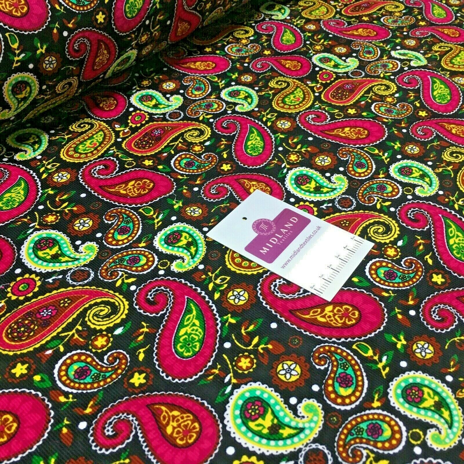 Paisley printed corduroy dress Fabric MH1489
