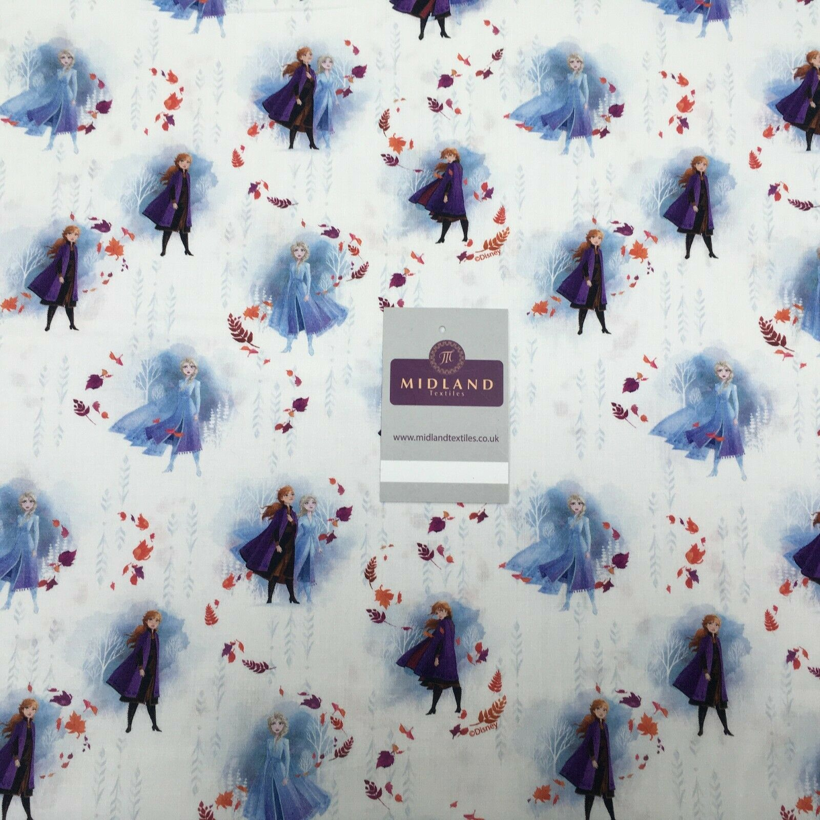 White Frozen Licensed Digital Printed 100% Cotton Fabric MH1453-2 Mtex